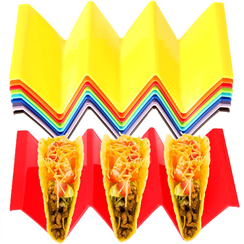 Youngever 9 Pack Large Taco Holder Stands, Taco Plate, Taco Truck Tray Style