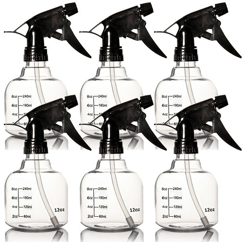 Youngever 6 Pack Empty Plastic Spray Bottles, 12 Ounce