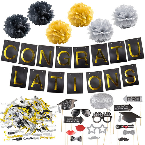 Graduation Party Supplies Bundle
