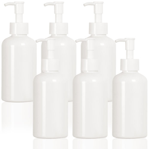 Youngever 6 Pack Plastic Pump Bottles 8 Ounce, Refillable Plastic Pump Bottles