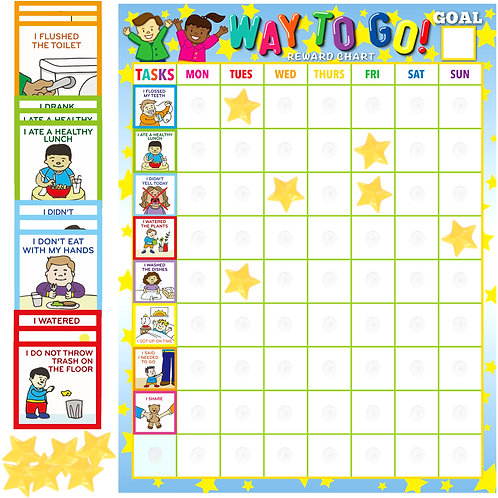 Youngever Toddler Chore Chart, 75 Behavioral Chores