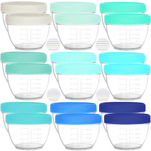 Youngever 18 Sets Baby Food Storage, 2 Ounce Baby Food Containers with Lids