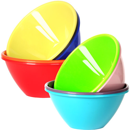 Youngever 22 ounce Plastic Bowls, Cereal Bowls, Soup Bowls, Microwave Safe