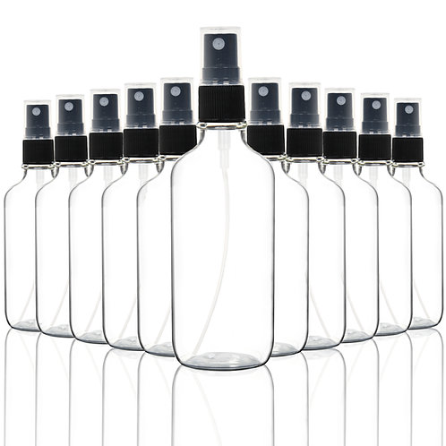 Youngever 10 Pack 4oz Empty Clear Glass Spray Bottles