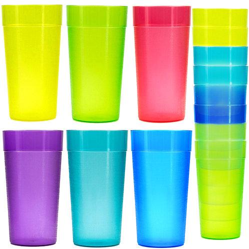 20 oz Plastic Tumblers, Cafe Break-Resistant Drinking Glasses, Restaurant-Qualit