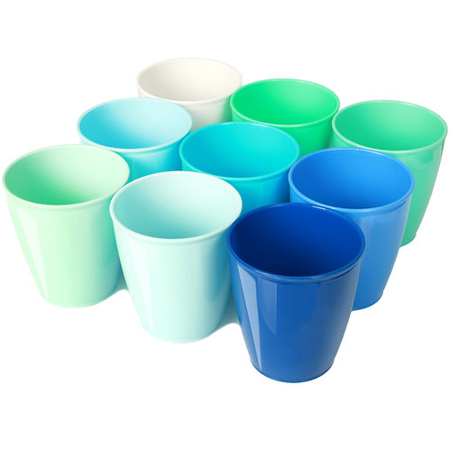 Youngever 8 Ounce Kids Cups Coastal Color