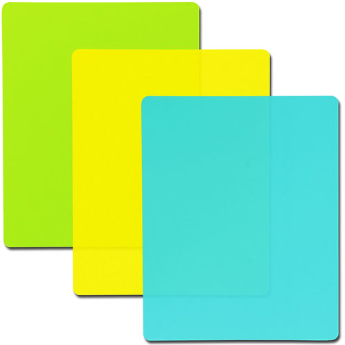 Youngever 9 Pack Plastic Cutting Boards, Flexible Colored Plastic Cutting Mats