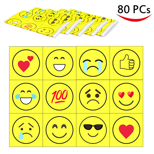 Youngever 80 Disposable Placemats Table Topper (emoji)