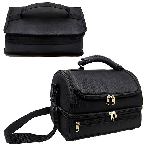 2 Adult Lunch Box. Bundle of 2 Insulated Lunch Bag. 1 Double Deck Cooler Bag and