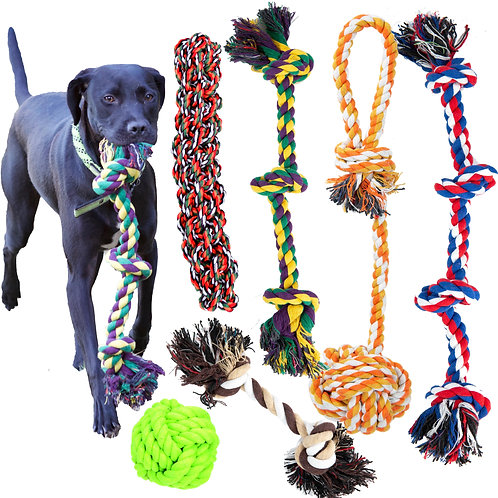 Youngever 6 Pack Dog Rope Toys, Puppy Chew Toys Dog Toys