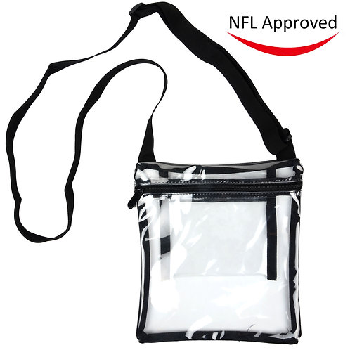 Deluxe Clear Cross-Body Purse, NFL Stadium Approved