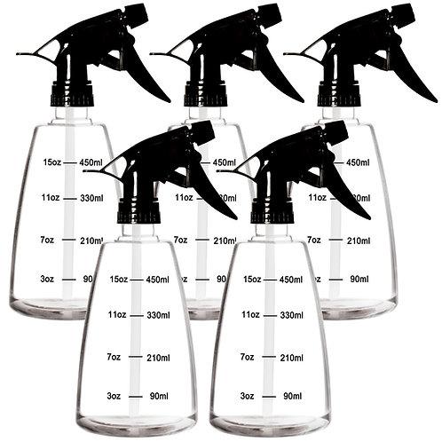 Youngever 5 Pack Empty Plastic Spray Bottles, 16 Ounce Spray Bottles for Hair