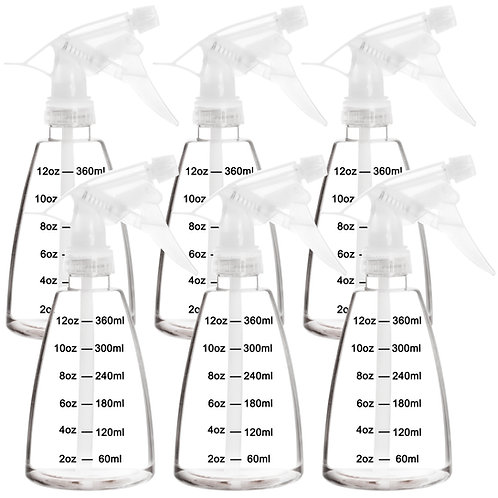 Youngever 6 Pack 12 Ounce Empty Plastic Spray Bottles, Spray Bottles for Hair
