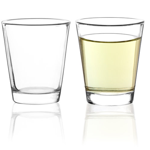 Youngever 8 Pack Shot Glass Set, 2 Ounce Glass Shot, Clear Shot Glass