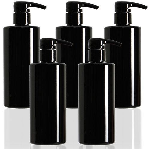 Youngever 5 Pack Black Plastic Pump Bottles 16 Ounce, Empty Pump Bottles