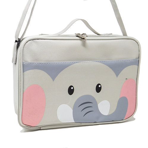 "Grey Elephant Lunch Bags Insulated Water-Resistant Lunch Bag 10"" x 7"" x 3.5"""