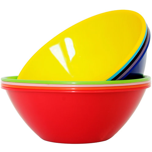 Youngever 10 inch 90 Ounce Plastic Mixing and Serving Bowls, Popcorn Bowls
