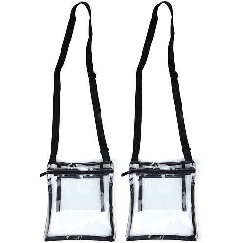 Youngever Deluxe Clear Cross-Body Purse 2 pack