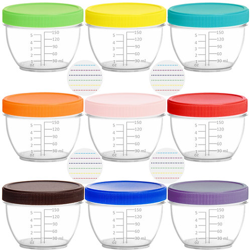 Youngever 18 Pack Baby Food Storage, 6 Ounce Baby Food Containers with Lids