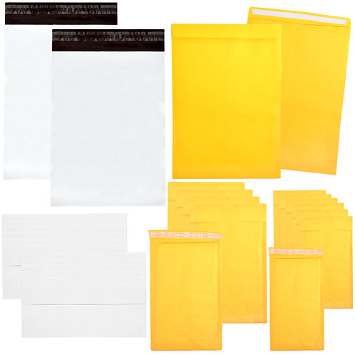 Youngever 125 Pack Assorted Envelope and Mailer Set