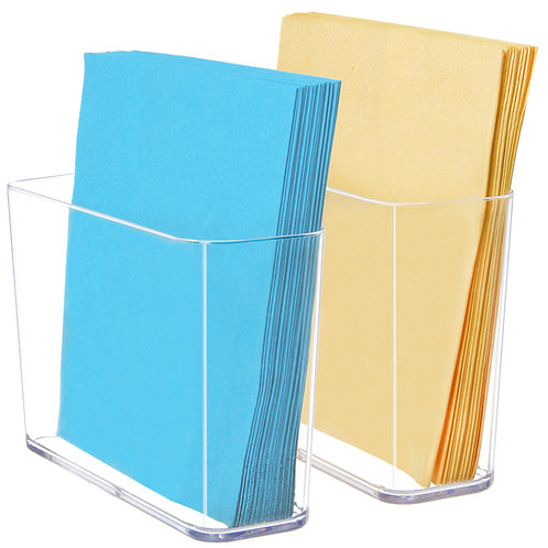 Youngever 2 Pack Clear Plastic Napkin Holders