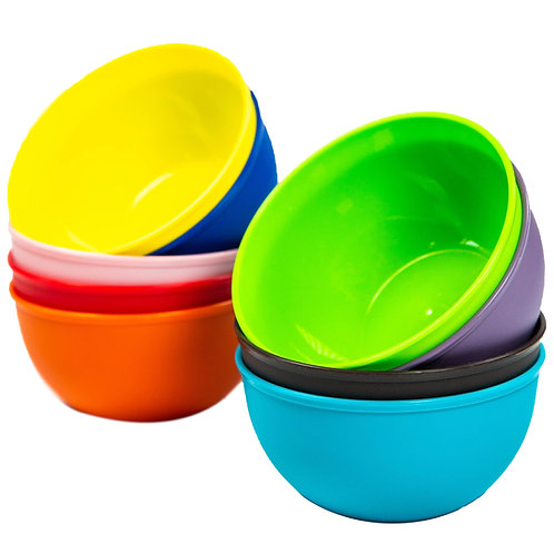 Youngever 9 Pack 8 oz Small Plastic Bowls Kids Plastic Bowls