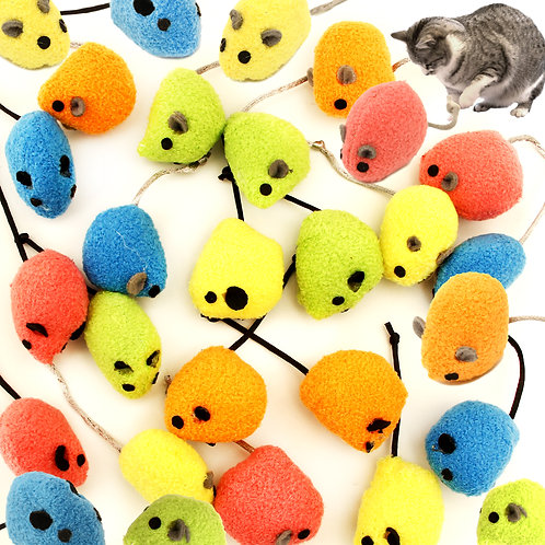 Youngever Cat Toys, Rattling Mice, Cat Mouse Toys, Catnip Cat Toys
