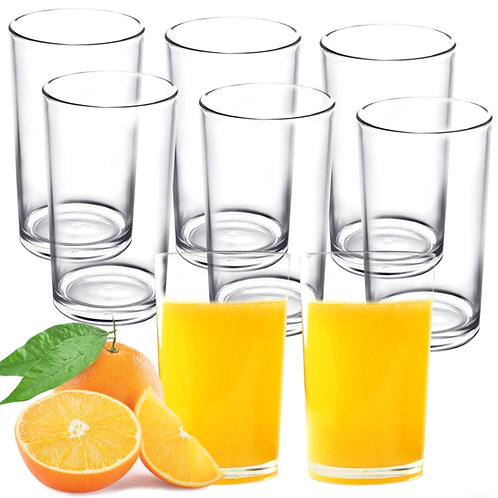 Youngever 9 Pack 9-ounce Premium Quality Plastic Drinking Tumblers, Plastic Glas