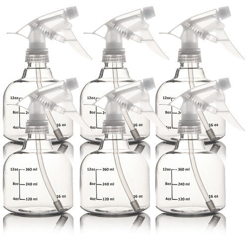 Youngever 6 Pack Empty Plastic Spray Bottles, Clear Spray Bottles for Hair