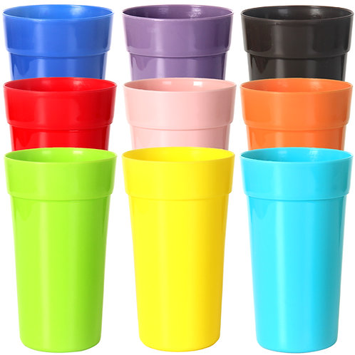 Youngever 9 Pack 22 Ounce Plastic Tumblers, Unbreakable Drinking Glasses