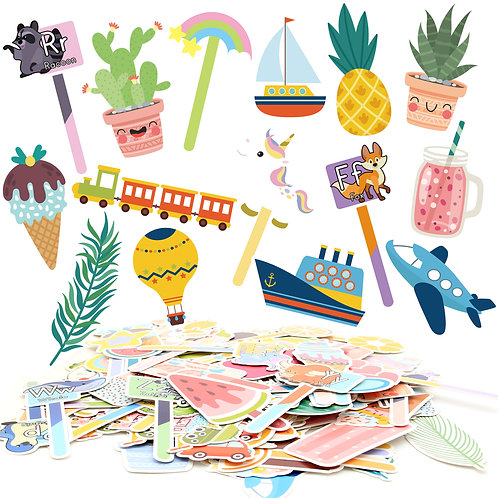 Youngever 139 Pieces Bookmarks, Kids Bookmarks with 8 Themes