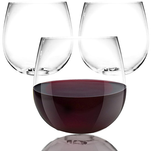 Youngever 9 pack Shatterproof Wine Glasses 18 Ounce, Plastic Red Wine Glasses