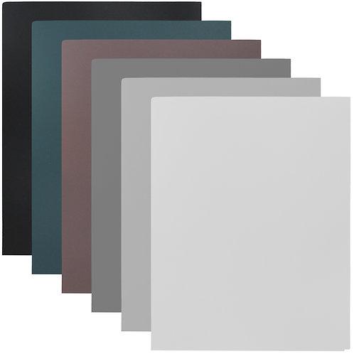 Youngever 12 Pack Heavy Duty Plastic Two Pocket Folders, Heavy Duty