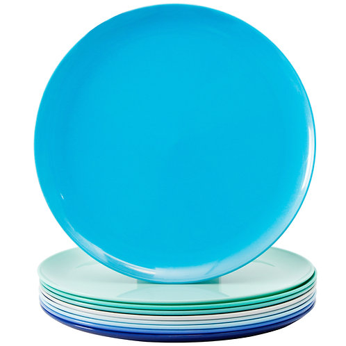 Youngever 10 Inch Plastic Plates, Large Plates, Dinner Plates, Microwave Safe