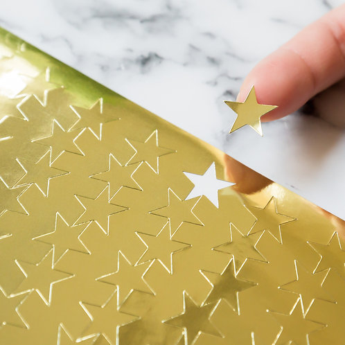 Youngever 3000 pcs Gold Foil Star Stickers for Kids, Reward Stickers