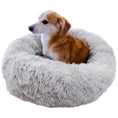 Youngever Round Pet Bed, Calming Bed, Donut Bed for Dog, Puppy, Cat, 25 inch
