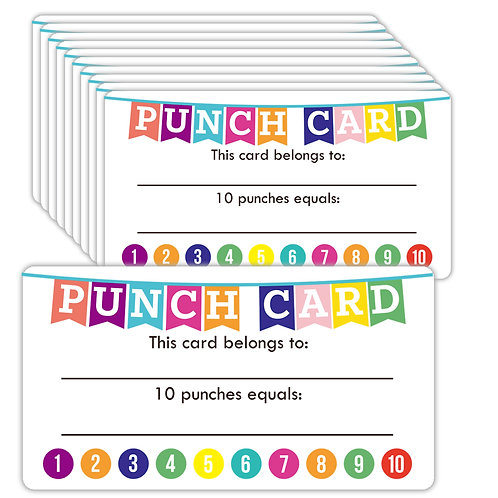 Youngever Punch Cards 180 Pack, Incentive Loyalty Reward Card, Basic Design