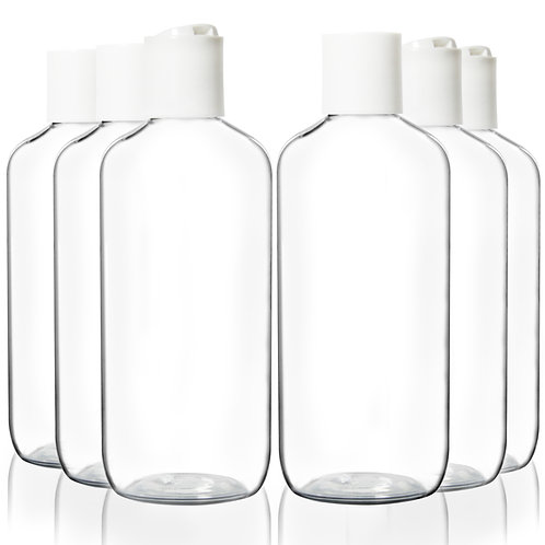 Youngever 10 Pack Plastic Empty Bottles with Disc Cap 8 Ounce