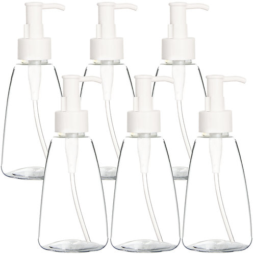 Youngever 6 Pack Plastic Pump Bottles, Refillable Plastic Pump Bottles(8 ounce)