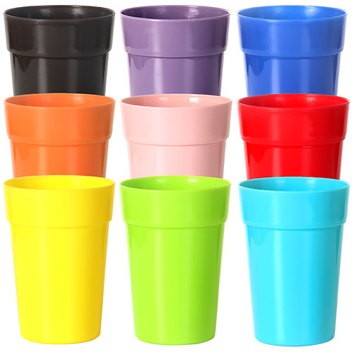 Youngever 18 Pack 12 Ounce Plastic Tumblers, Unbreakable Drinking Glasses