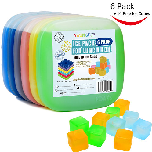 6 Pack Ice Packs for Lunch Box