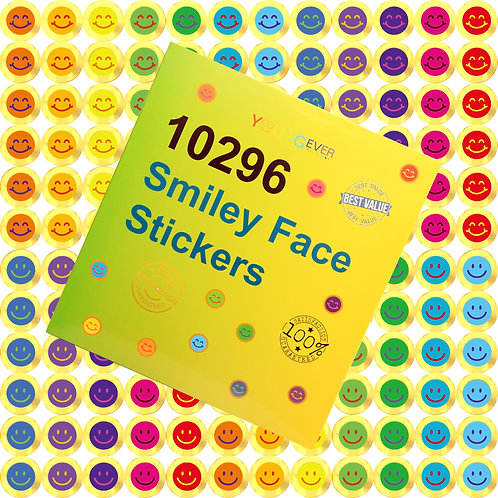 Youngever 10296 pcs Gold Happy Smile Face Stickers, Gold Smiley Face Stickers