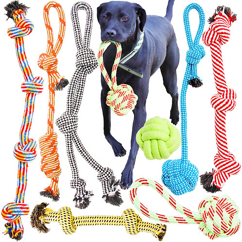 Youngever 8 Pack Large Dog Rope Toys, Dog Chew Toys, Dog Toys for Medium Dog