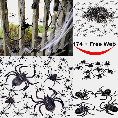 175 Pcs Halloween Spider Decorations