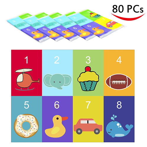 80 Disposable Placemats Table Topper (animal)