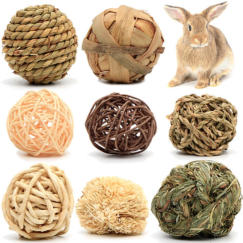 Youngever 8 Pack Small Animal Activity Toys, Assorted Rabbit Balls