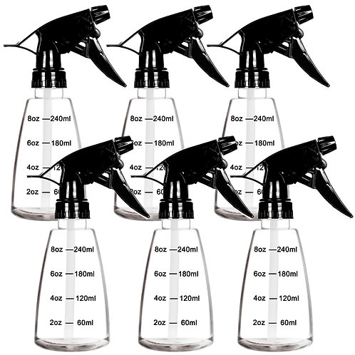 Youngever 6 Pack Clear Empty Plastic Spray Bottles 8oz