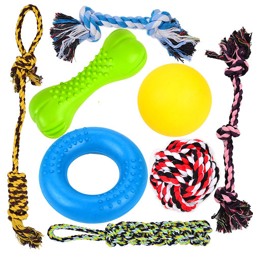 8 Pcs Puppy Chew Dog Toys - for Small & Medium Dogs Teething