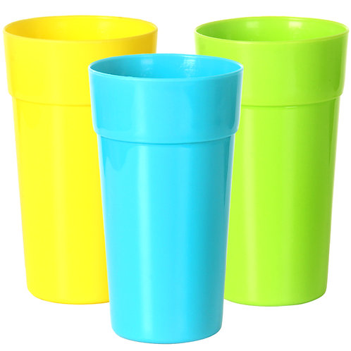 Youngever 9 Pack 32 Ounce Plastic Tumblers, Unbreakable Drinking Glasses