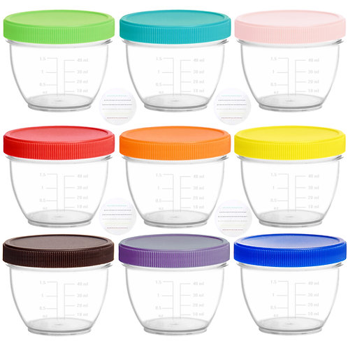 Youngever 18 Pack Baby Food Storage, 2 Ounce Baby Food Containers with Lids
